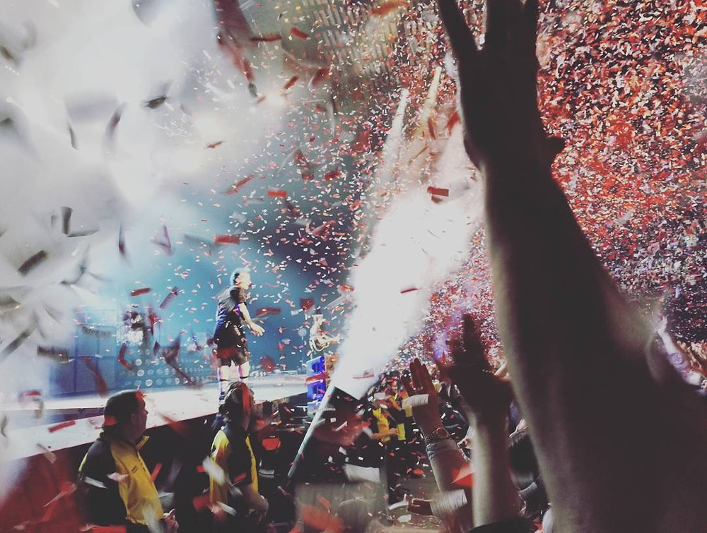 Green Day Revolution Radio confetti in Leeds, England
