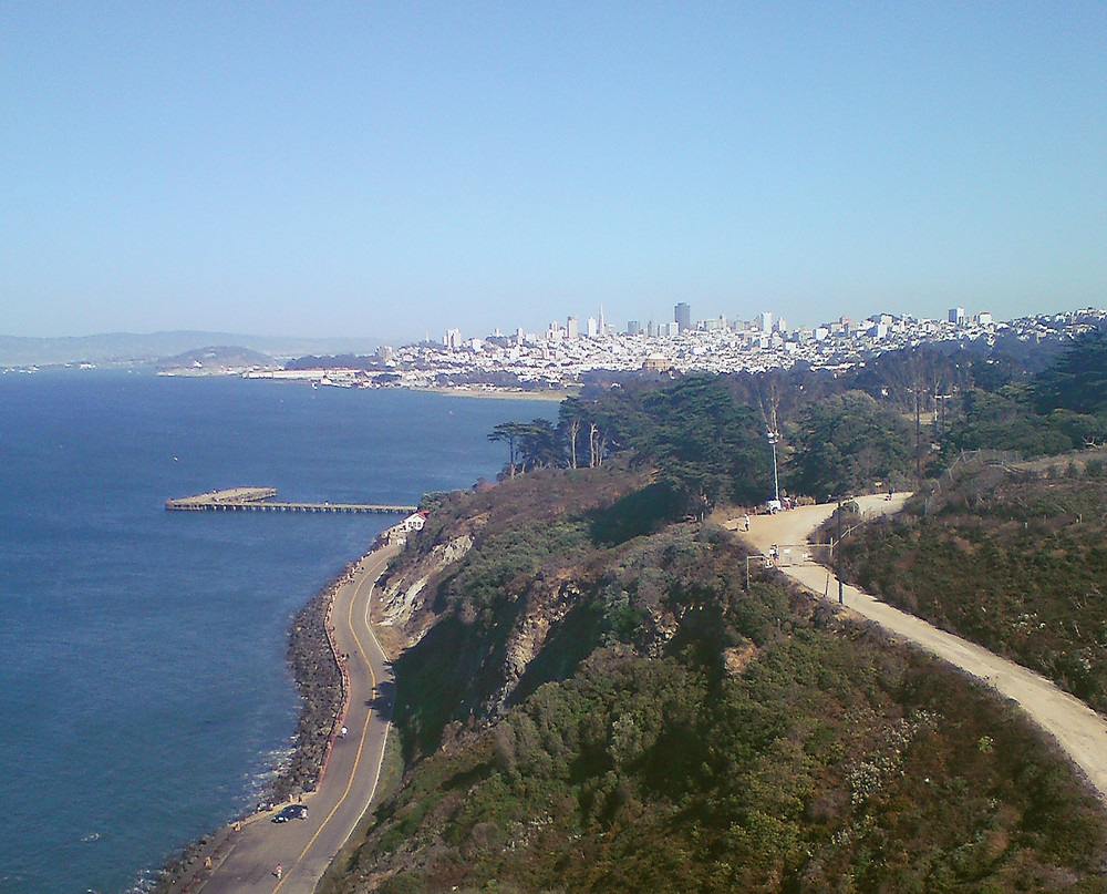 San Francisco from Golden Gate Bridge