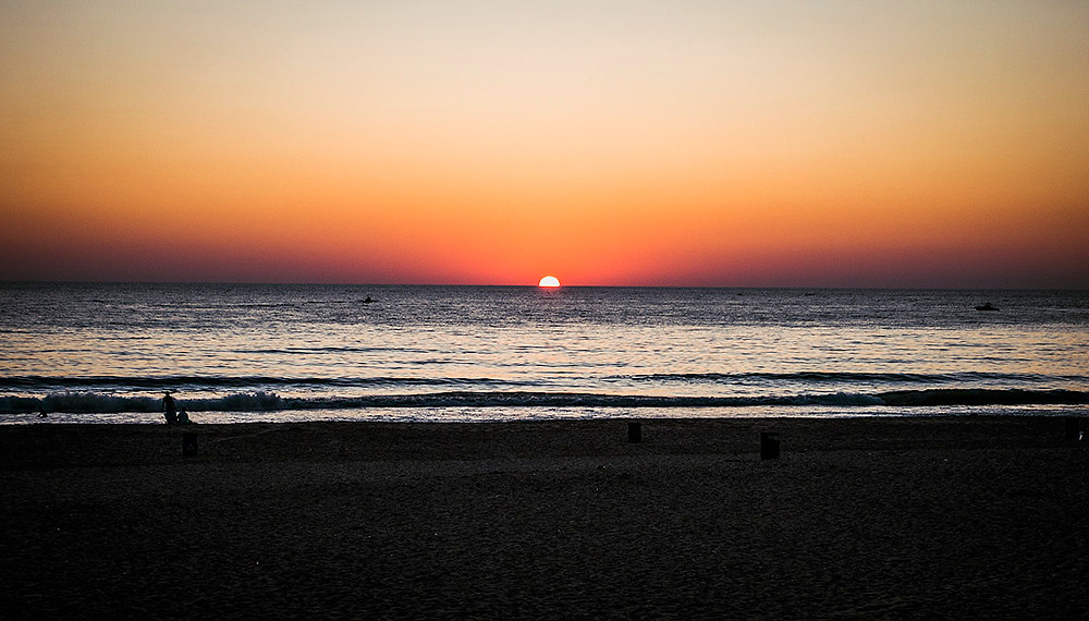 Sunset in at Ramlet al-Baida, Beirut