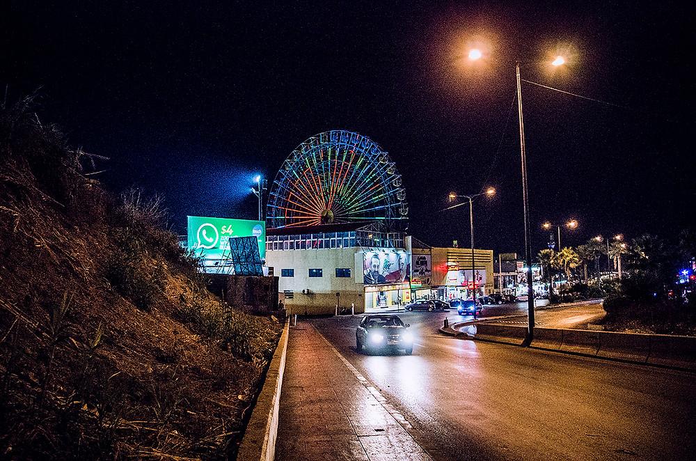 Luna Park, Beirut at night