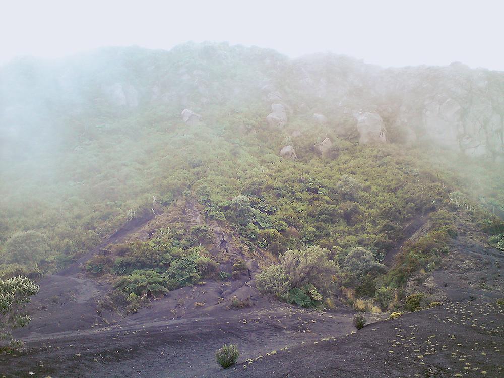 Foggy Irazu Volcano, Costa Rica