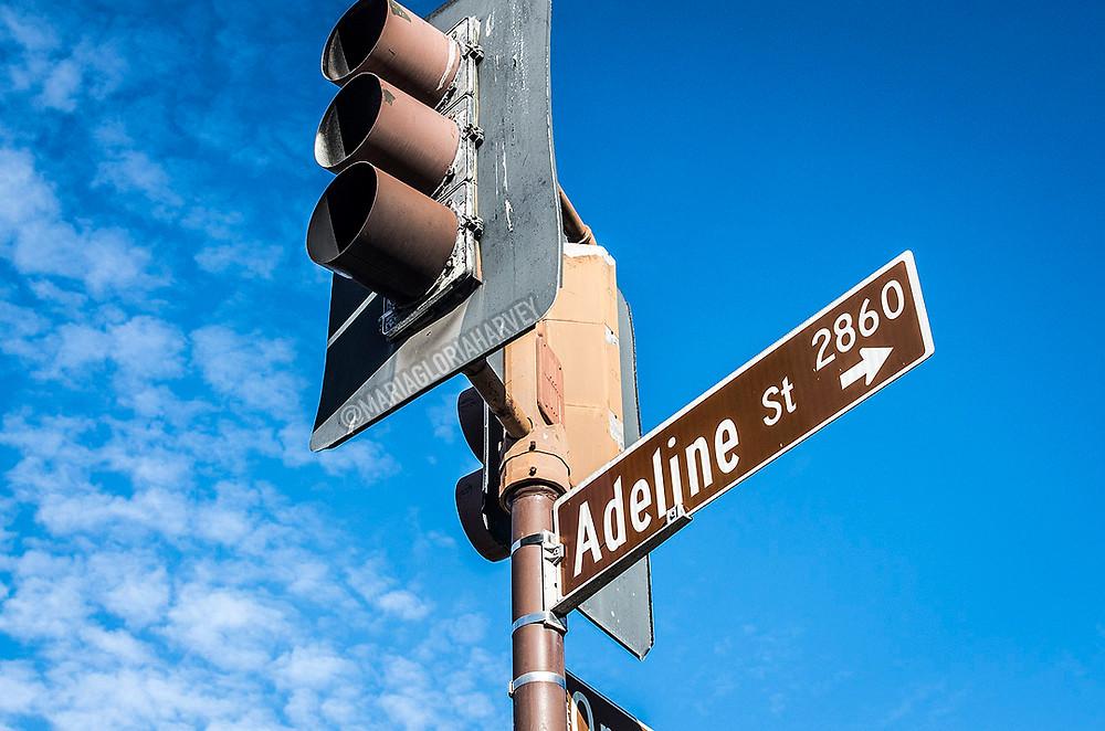 Adeline Street sign