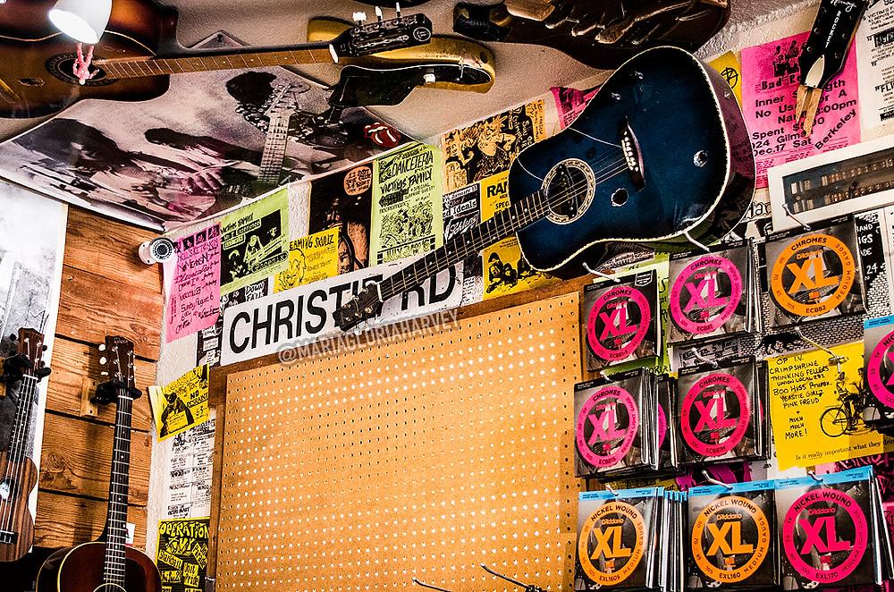 Christie Road sign Broken Guitars
