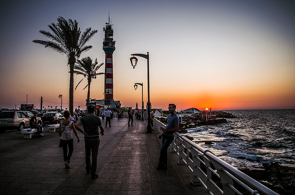 Sunset on Beirut Corniche