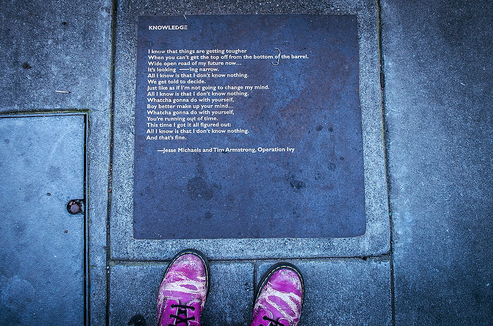 Operation Ivy plaque in Berkeley