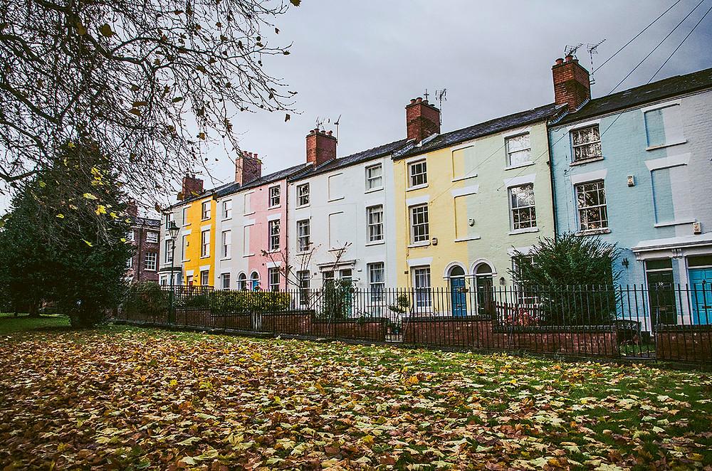 Coloured houses Nottingham