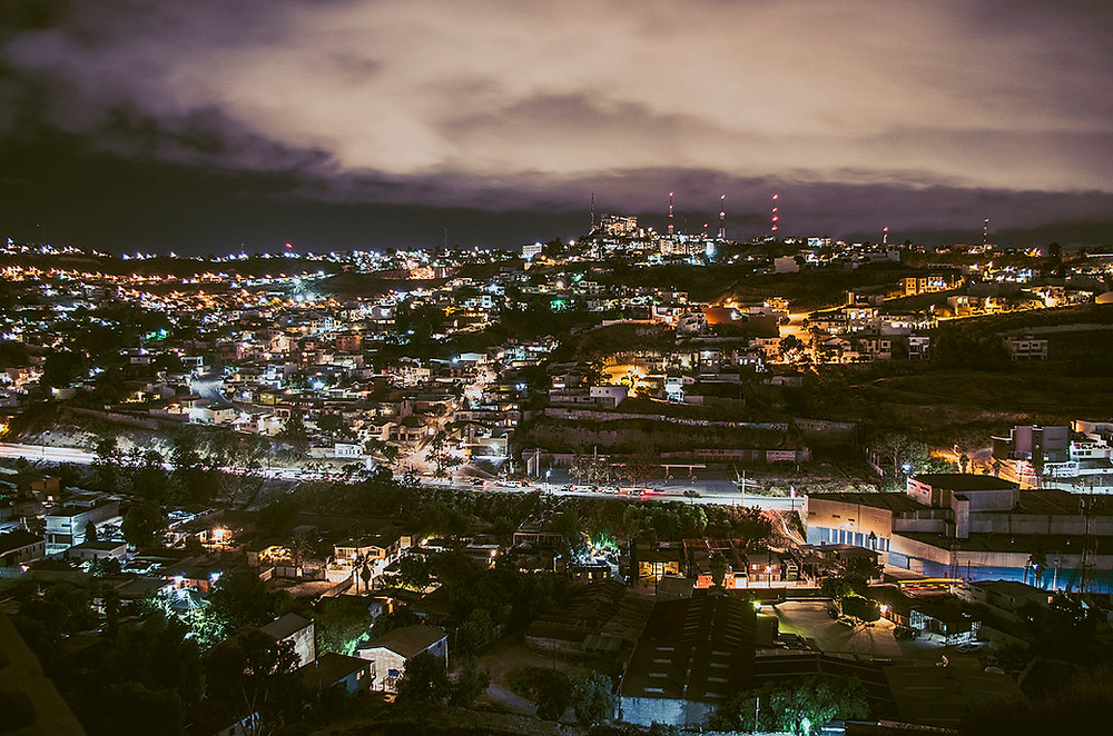 Tijuana, Mexico at night