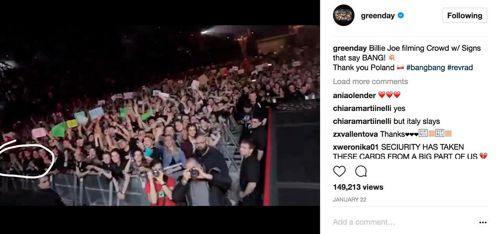 Green Day Krakow Instagram video
