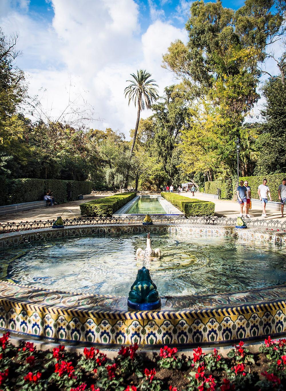 Fountain in Parque de María Luisa, Seville