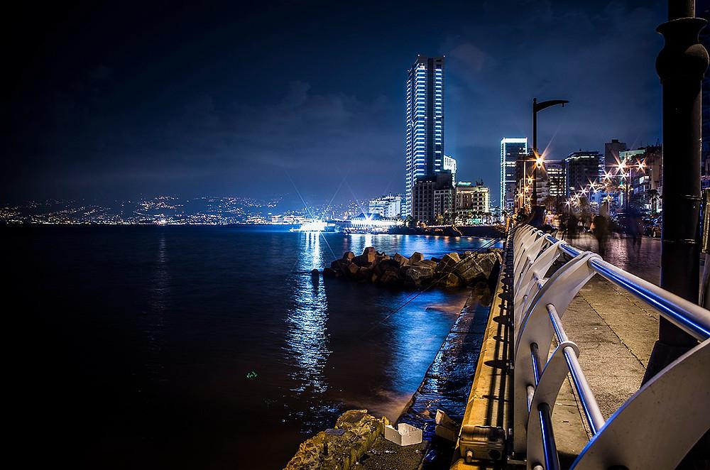 Beirut, Lebanon at night