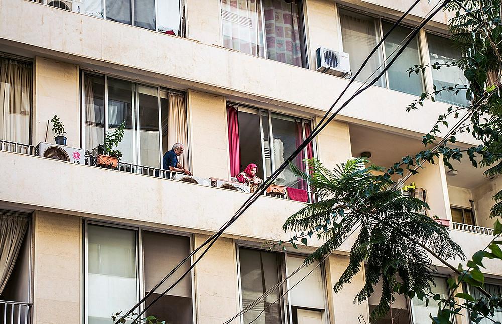 Balconies in Ras Beirut, Lebanon