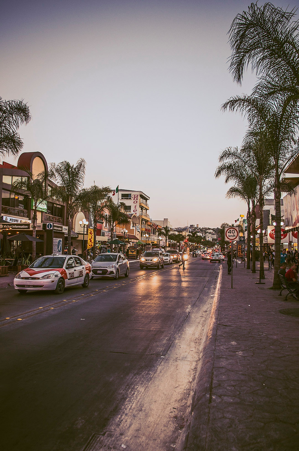 Tijuana streets at night