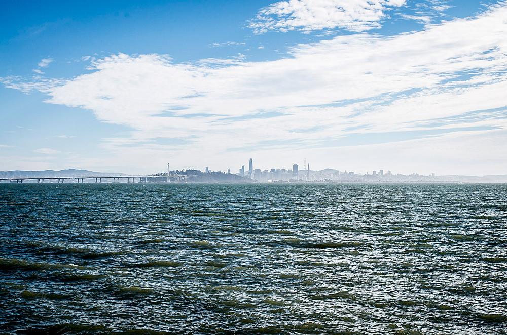 San Francisco skyline from Berkeley Marina