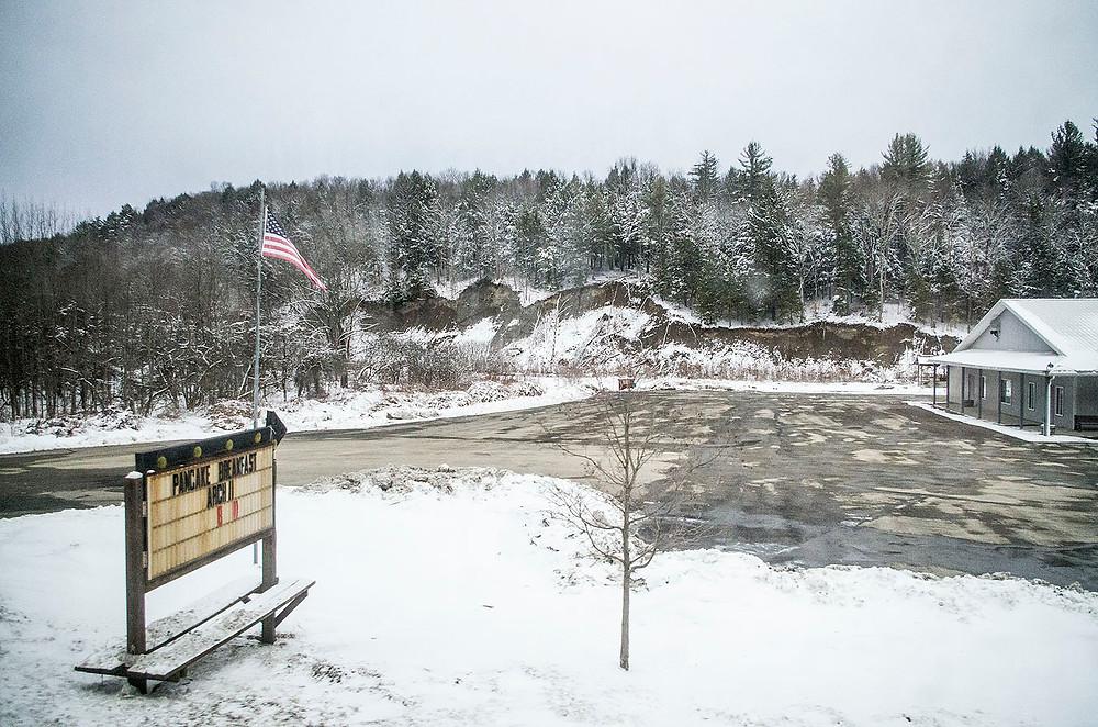 Snow in rural Pennsylvania