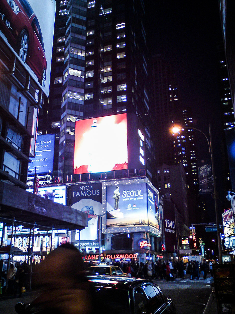 New York Times Square at night 2011