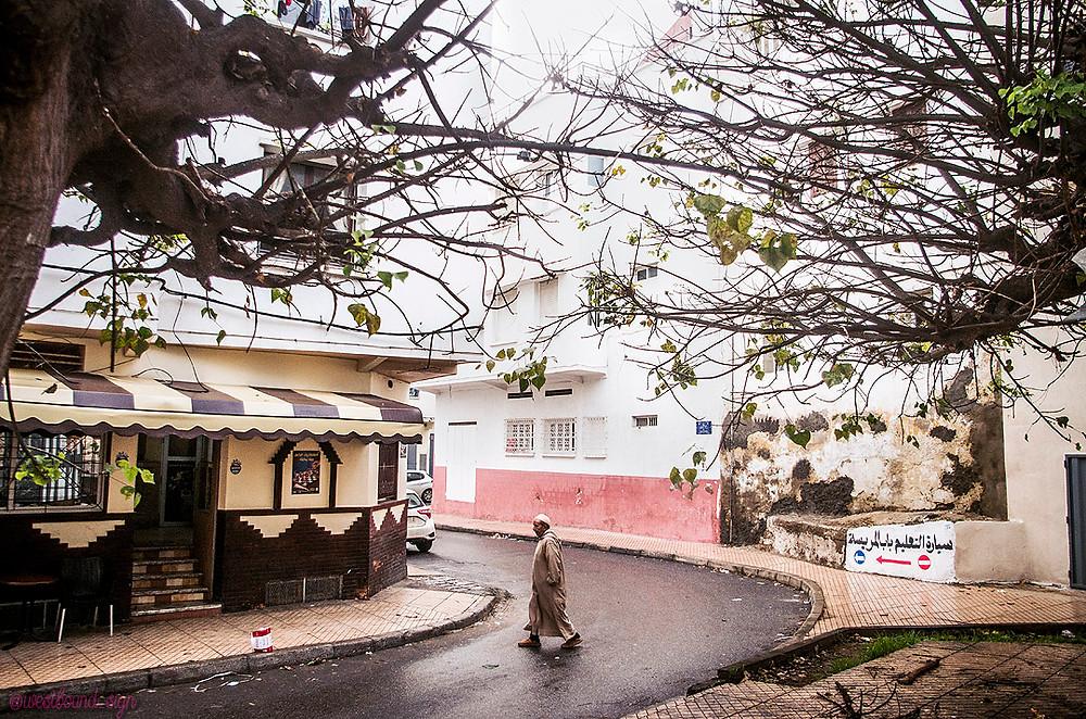 Pink streets of Salé Medina, Morocco