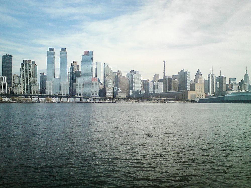 New York skyline from Hudson River