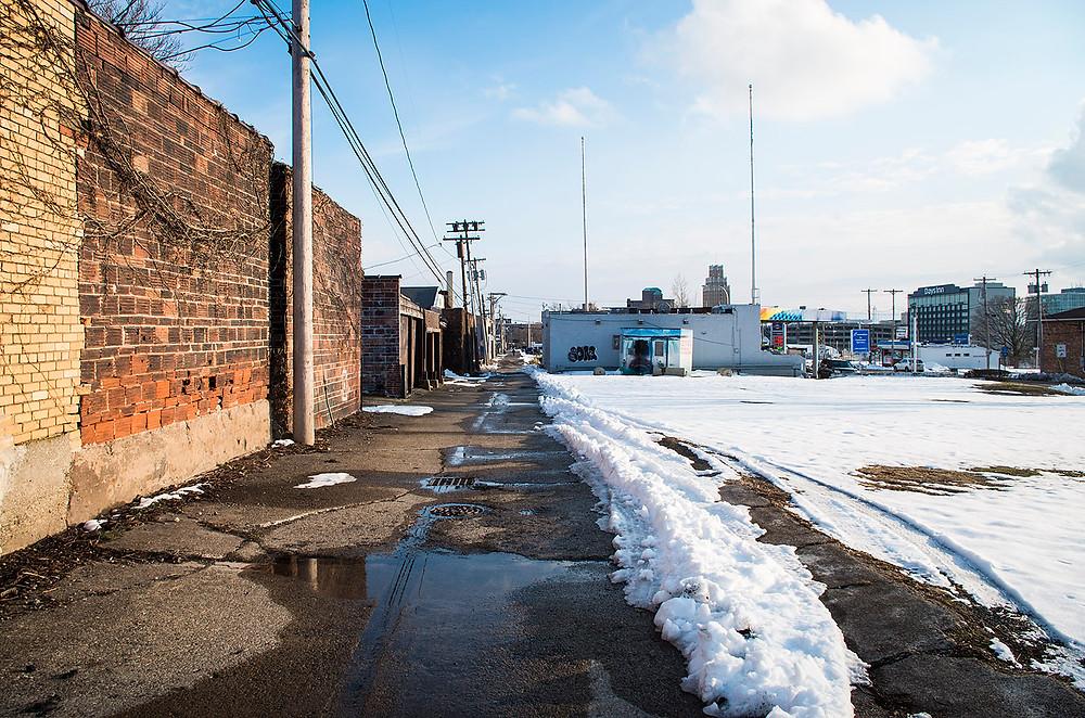 Niagara Falls NY streets winter