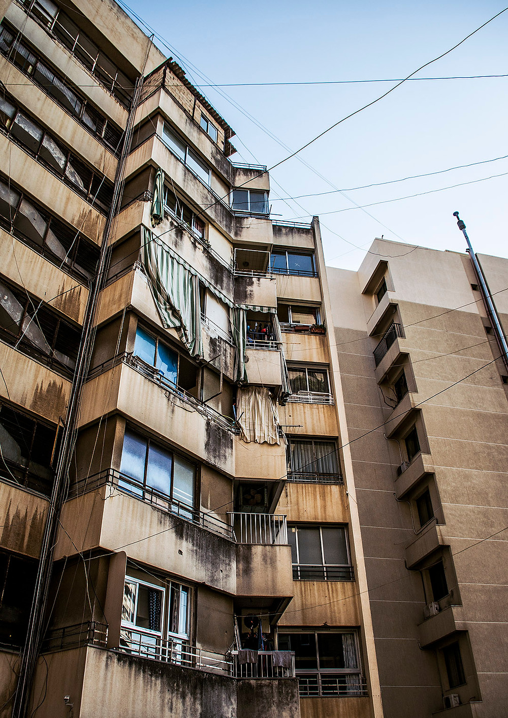 Apartment blocks in Ras Beirut, Lebanon