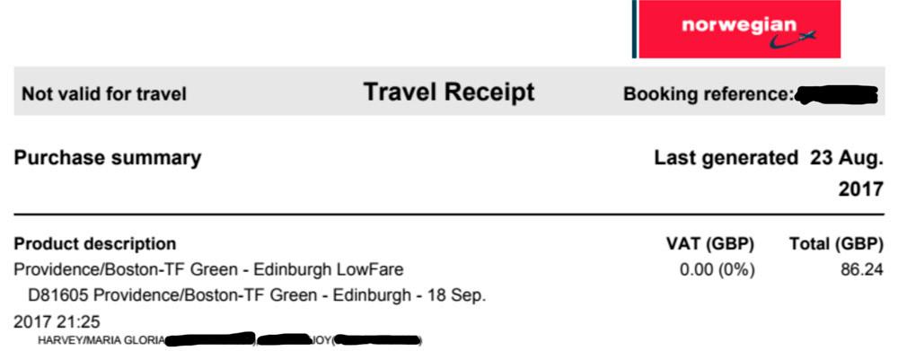 Transatlantic flight for £43