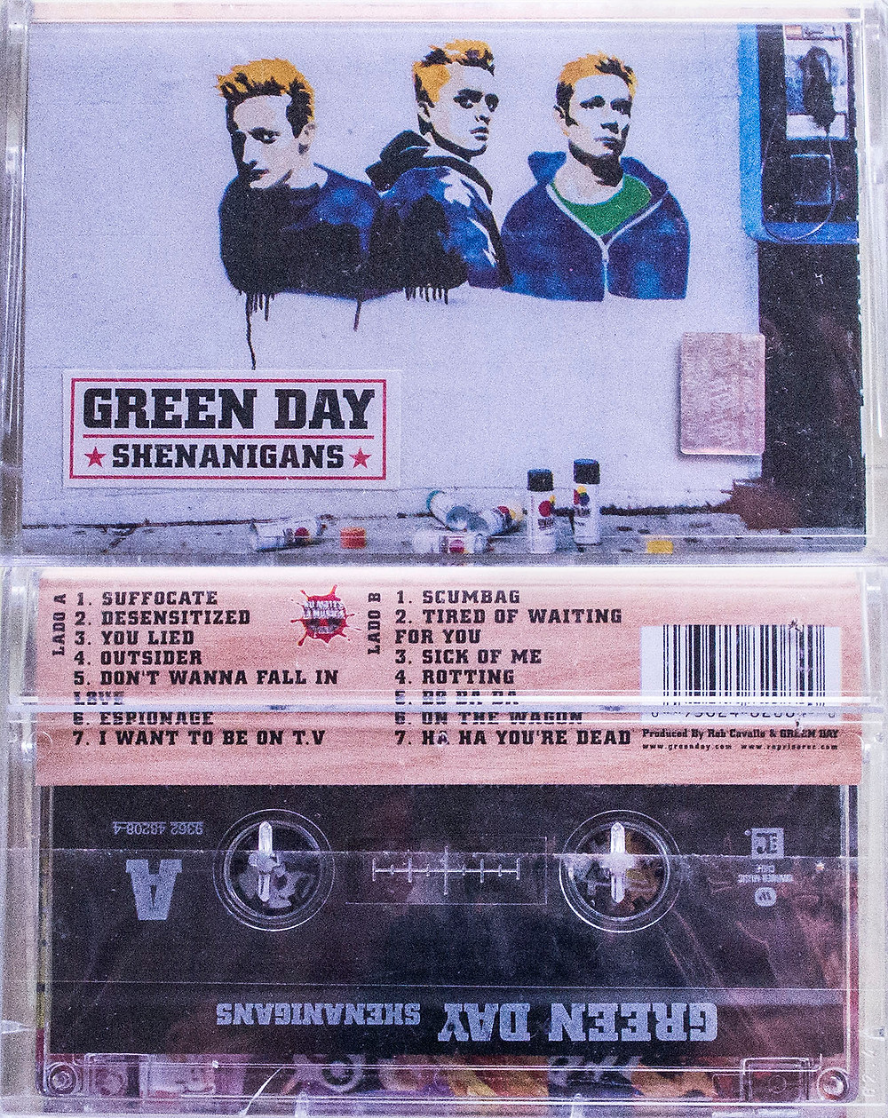 Green Day Shenanigans chile cassette
