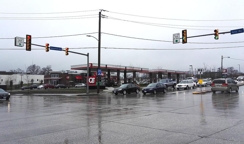 Quiktrip gas station Des Moines IA