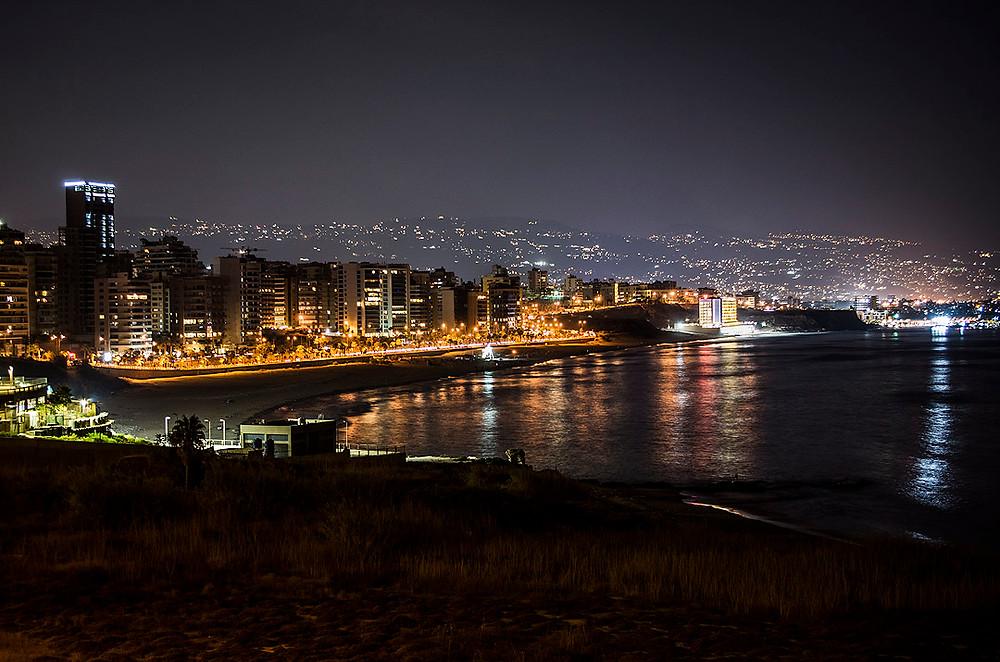 Beirut skyline at night