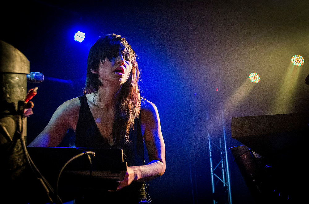 Lights live on the Little Machines Tour at Thekla, Bristol, 24 January 2015