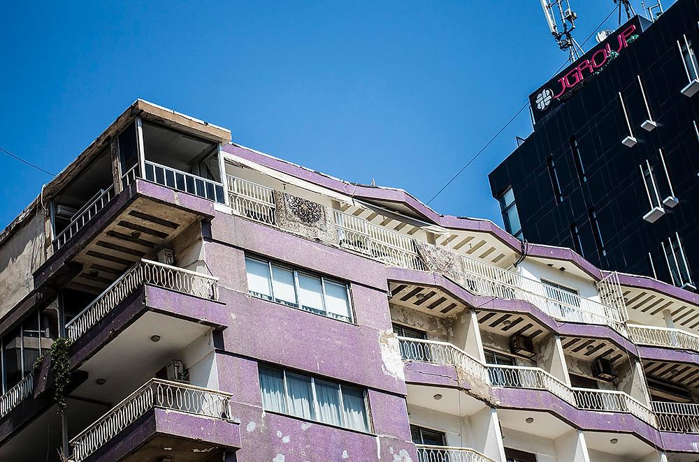 Purple building in Beirut