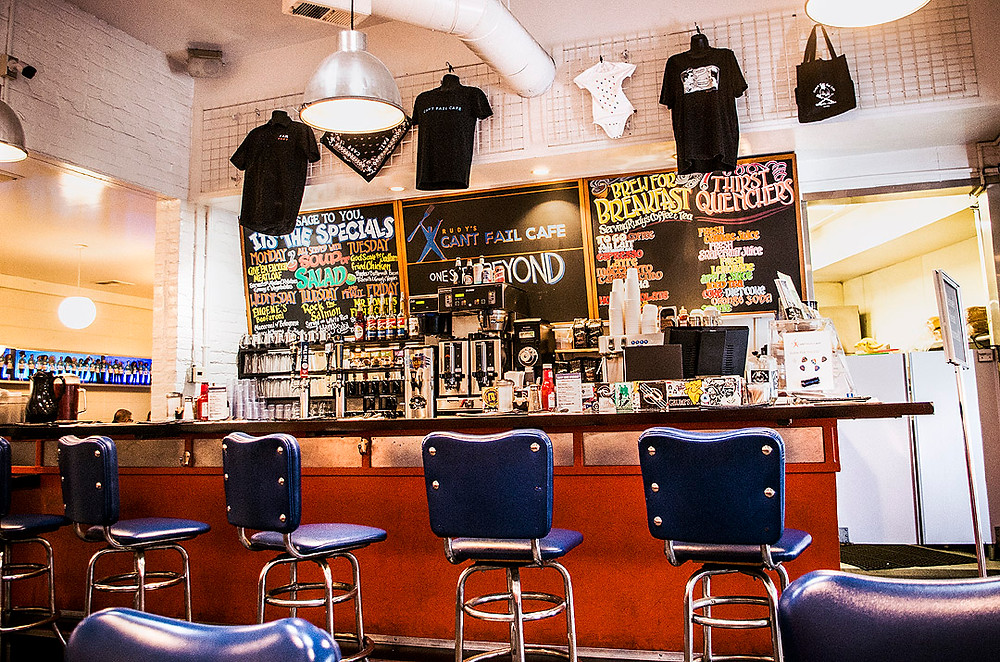Inside Rudy's Can't Fail Cafe