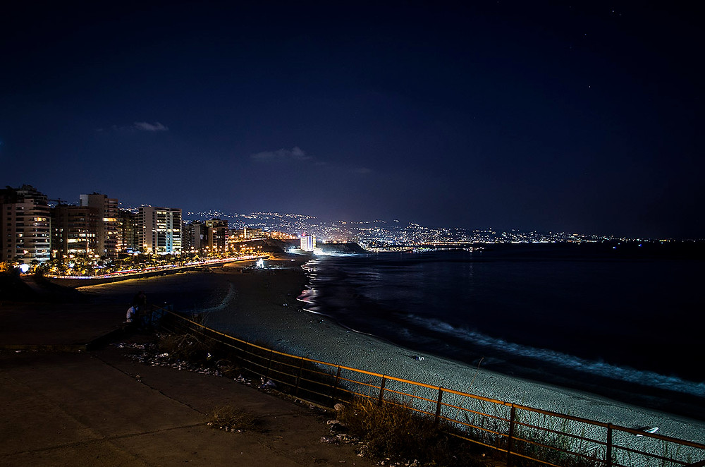 Beirut skyline at night