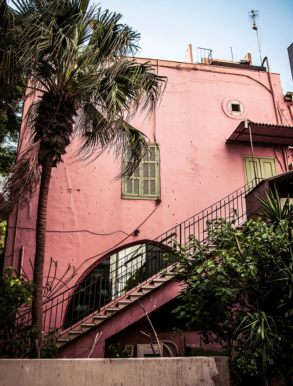 Pink building in Acrafieh, Beirut
