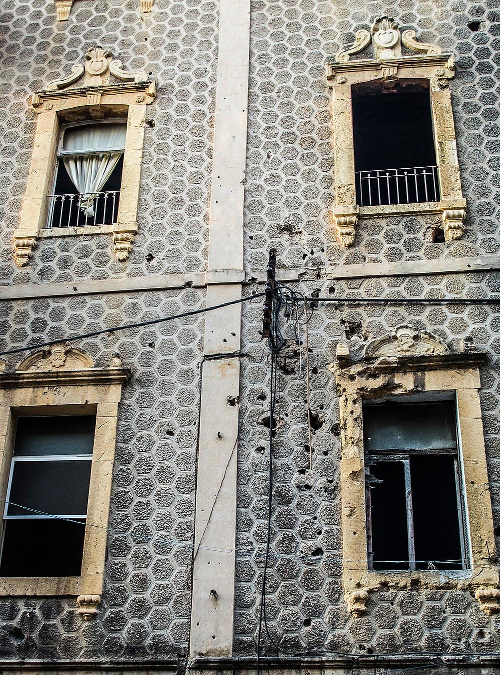 Damaged building on Gourad Street, Beirut