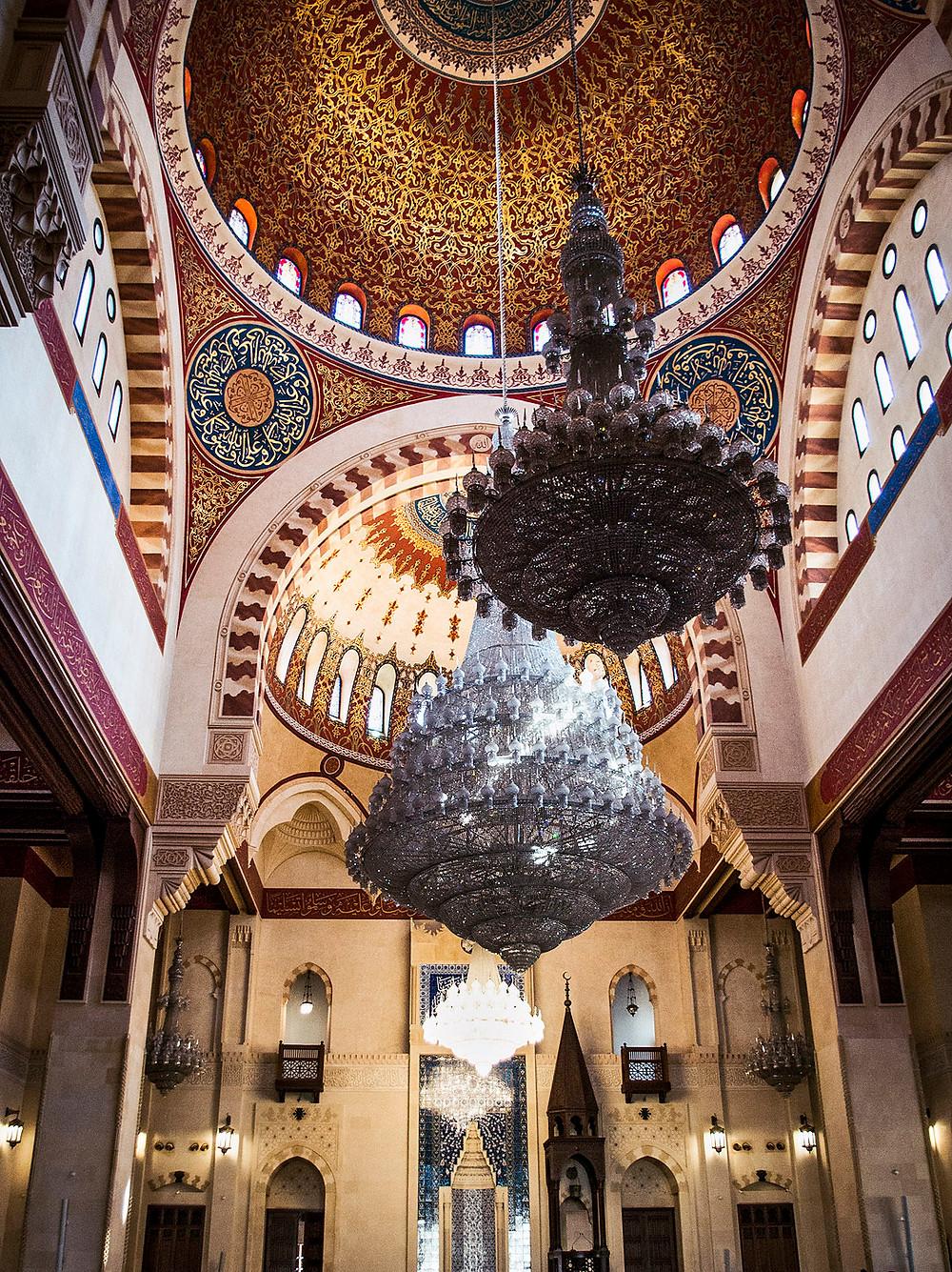 Inside Mohammad Al-Amin Mosque