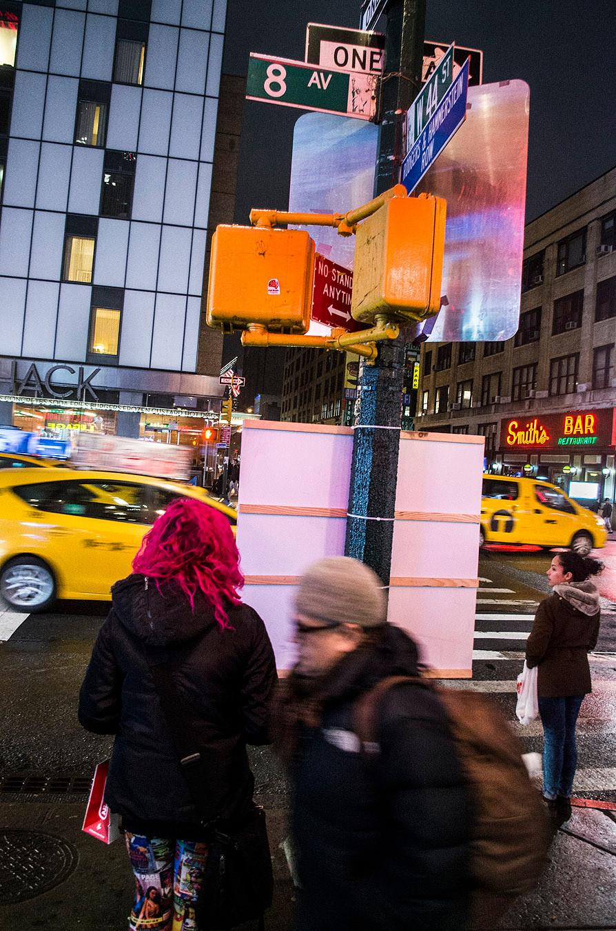 New York City 8th Avenue at night