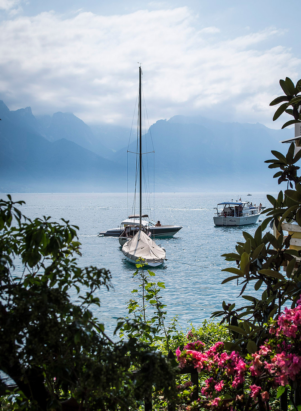 Boat in Montreux, Switzerland
