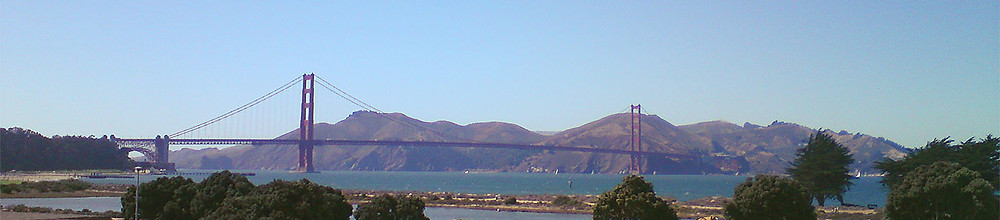 Golden Gate Bridge panorama, San Francisco, CA