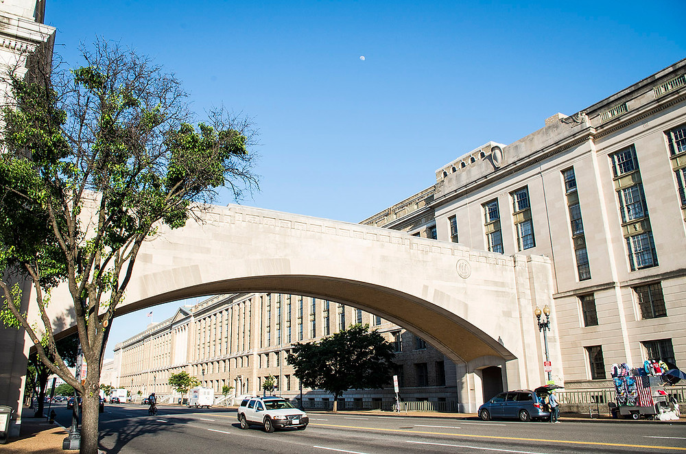 Washington DC streets archway