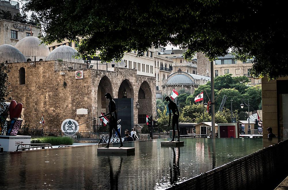 Fountain on Uruguay Street, Beirut, Lebanon