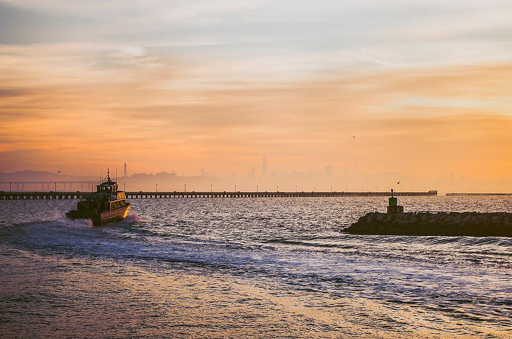 Sunset at Berkeley Marina