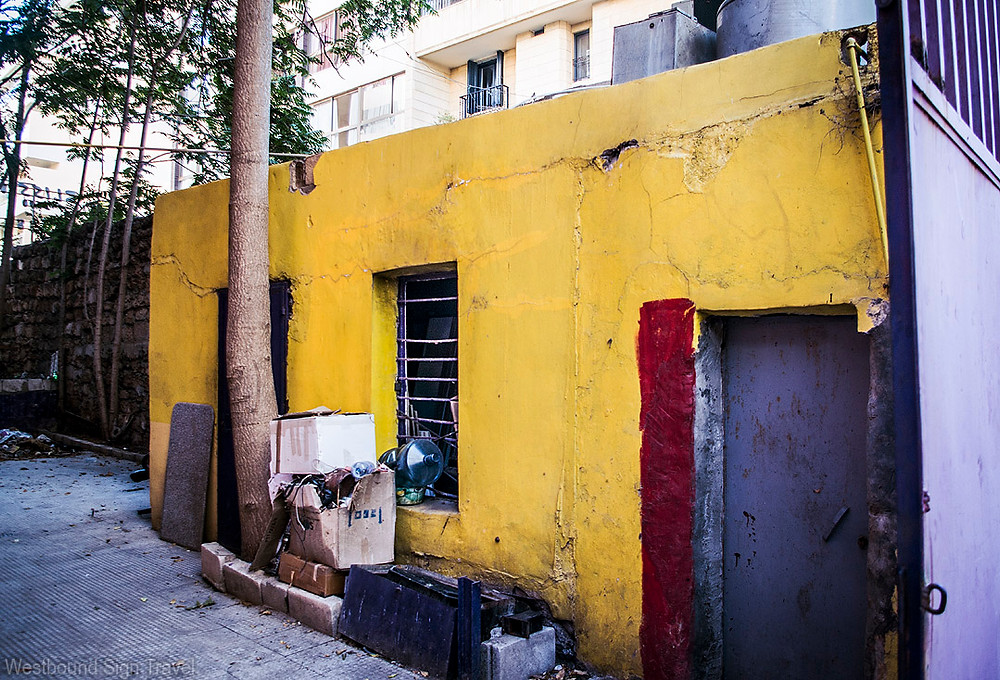 Colorful building in Ras Beirut, Lebanon
