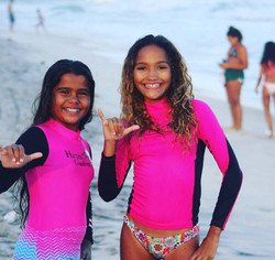 Juliana Sena and Anna Ferreira