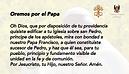 Tarjeta Oremos por el Papa_Mesa de traba