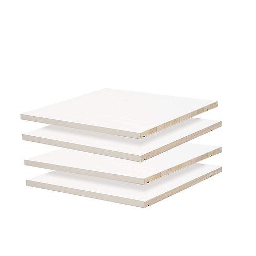 5971 - Family Wardrobe Small Optional Shelves, Set of 4, White