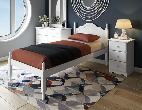 1431 - 100% Solid Wood Reston Twin Bed, White