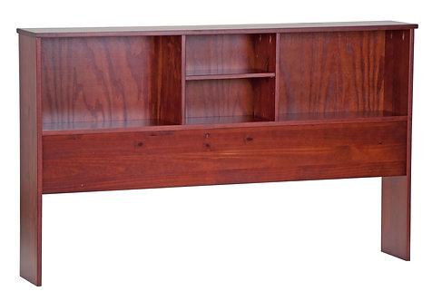 Full Bookcase Headboard Mahogany