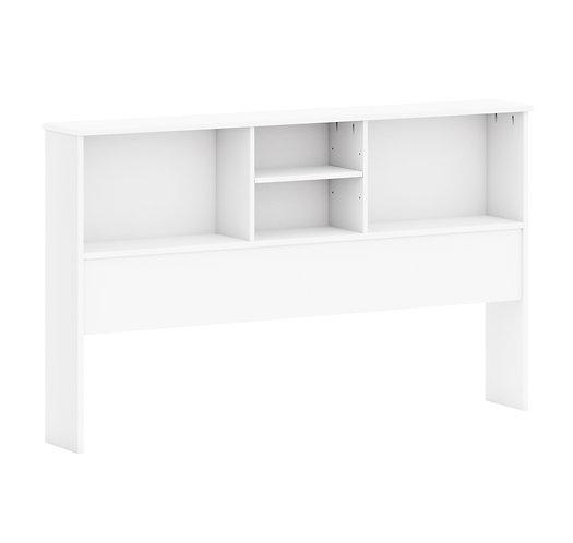 2541 - Full Kansas Bookcase Headboard White