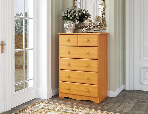 5364 - Six Drawer Chest - Honey Pine
