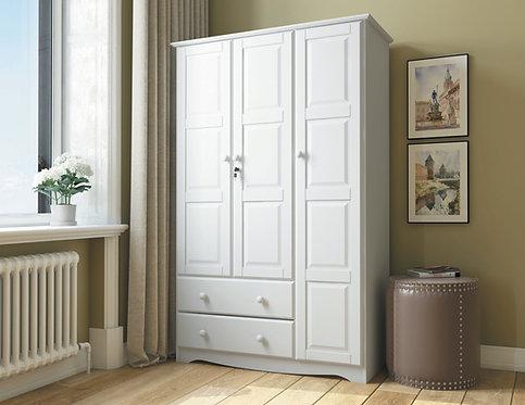 5691 - 100% Solid Wood Grand Wardrobe -White