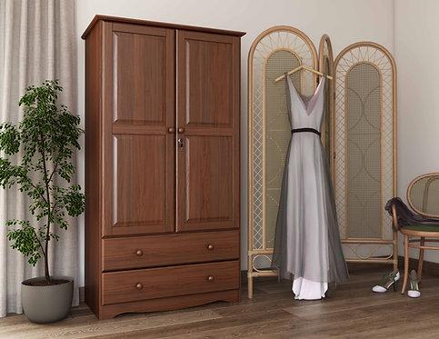 5923 - 100% Solid Wood Smart Wardrobe, Mocha